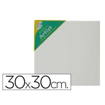 Bastidor artist lienzo grapado trasero algodon 100% 30x30 cm