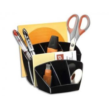 Organizador sobremesa cep confor plastico negro