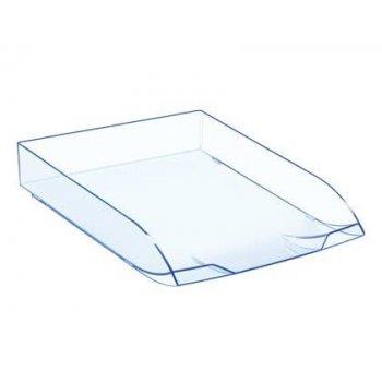 Bandeja sobremesa cep confort plastico transparente celeste 370x270x61 mm