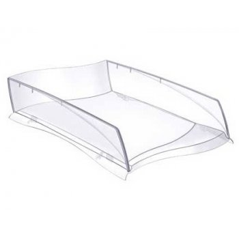 Bandeja sobremesa cep ellypse plastico transparente 380x275x82 mm