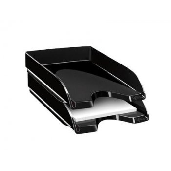 Bandeja sobremesa cep plastico negra 348x257x66 mm