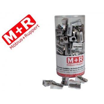 Sacapuntas m+r 201 metalico cuña 1 uso bote de 100 unidades