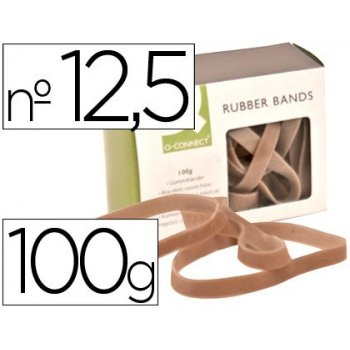 Bandas elasticas q-connect 100 gr 125 x 9 mm numero 12,5