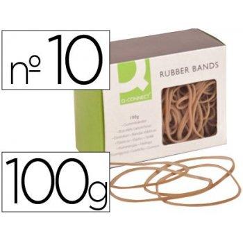 Gomillas elasticas q-connect 100 gr numero 10 100 x 2 mm