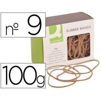 Gomillas elasticas q-connect 100 gr numero 9 90 x 2 mm