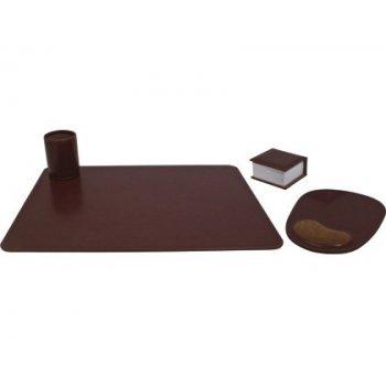 Escribania de sobremesa artesania en poliipiel juego de 4 piezas