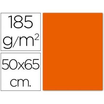 Cartulina guarro mandarina 50x65 cm 185 grs