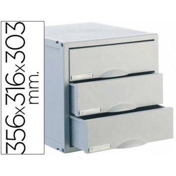 Fichero cajones de sobremesa archisystem 356x316x303 mm 3 cajones color gris