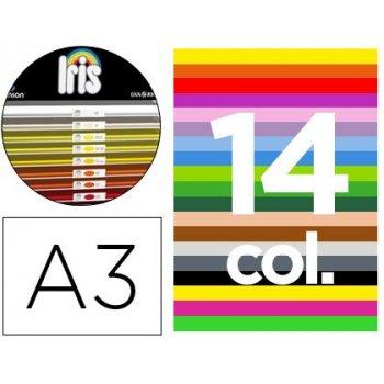 "Cartulina guarro a-3 29,7x42 cms contenido ""c"" colores surtidos 185 grs"