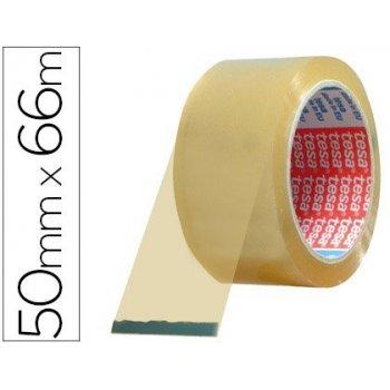 Cinta adhesiva tesa pvc color transparente 66mtsx50mm para embalaje