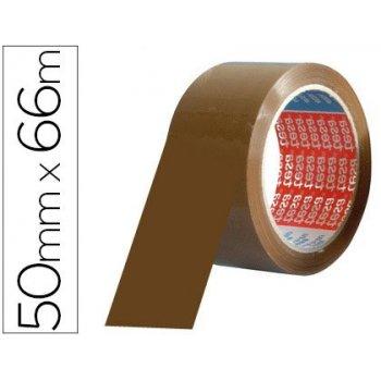 Cinta adhesiva tesa pvc color marron 66mtsx50mm para embalaje