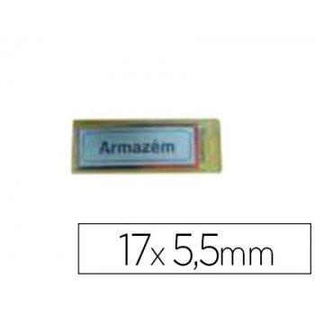 Letrero plastico adhesivo -armazem 17x5.5 mm -blister de 1 unidad