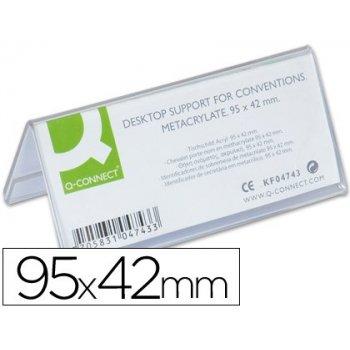 Identificadores sobremesa q-connect metacrilato tamaño 95x42 mm ref.5730
