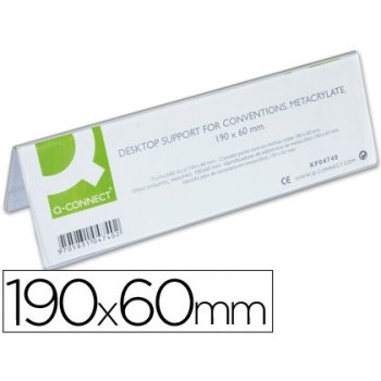Identificadores sobremesa q-connect metacrilato tamaño 190x60 mm ref.5727