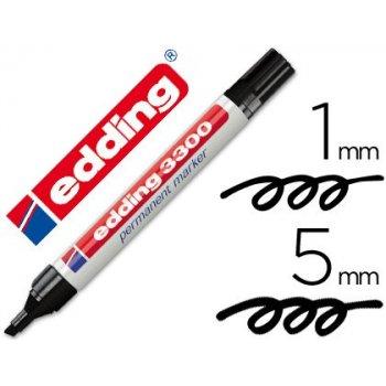 Rotulador edding marcador 3300 n.1 negro - punta biselada recargable