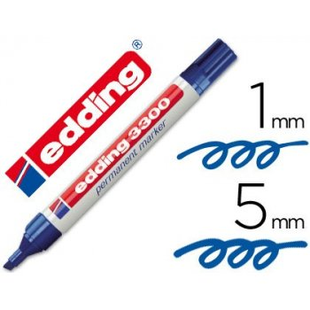 Rotulador edding marcador 3300 n.3 azul - punta biselada