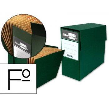 Caja transferencia con fuelle folio verde