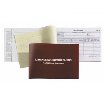 Libro subcontratacion gallego miquelrius folio natural juego de 10 hojas autocopiativas