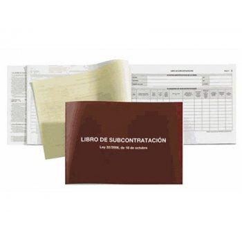Libro subcontratacion miquelrius folio natural juego de 10 hojas autocopiativas