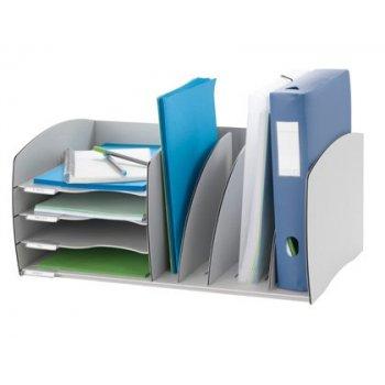 Organizador de armario fast-paperflow gris poliestireno 245x543x340 mm