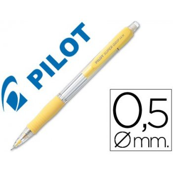 Portaminas pilot super grip amarillo 0,5 mm sujecion de caucho