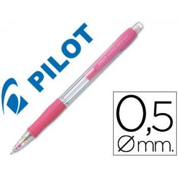 Portaminas pilot super grip rosa 0,5 mm sujecion de caucho
