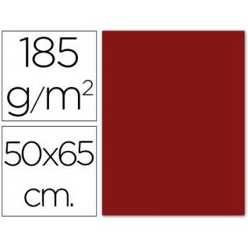 Cartulina guarro granate -50x65 cm -185 gr