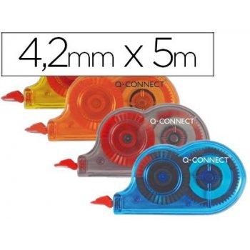 Corrector q-connect cinta mini blanco 4,2mm.x 5 m. -bombonera de 28 unidades