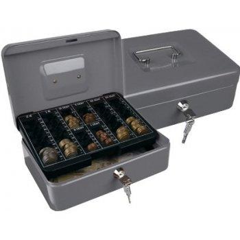 "Caja caudales q-connect 10"" 250x180x90 mm plata con portamonedas"