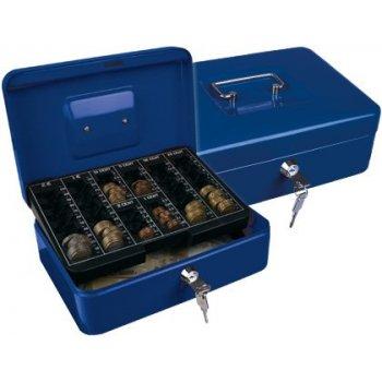 "Caja caudales q-connect 10"" 250x180x90 mm azul con portamonedas"