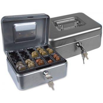 "Caja caudales q-connect 8"" 200x160x90 mm plata con portamonedas"