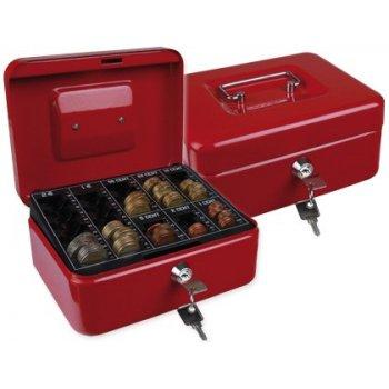 "Caja caudales q-connect 8"" 200x160x90 mm roja con portamonedas"