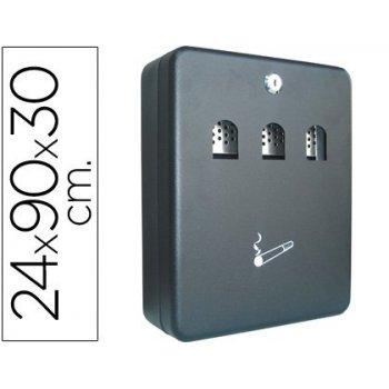 Cenicero buzon q-connect metalico 240x90x300 mm