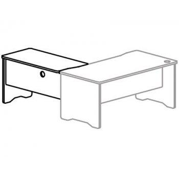 Ala para mesa rocada serie work 100x60 derecha o izquierda acabado aa01 haya haya