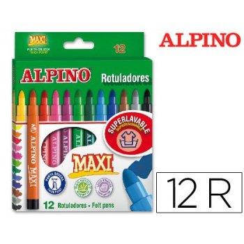 Rotulador alpino maxi -caja de 12 colores