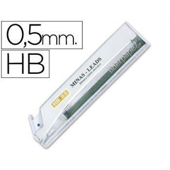 Minas liderpapel grafito 0.5 mm hb tubo de 12 minas
