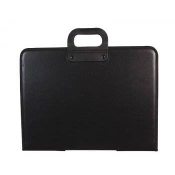 Cartera portadocumentos q-connect negra con asa con cremallera din a3 420x297 mm