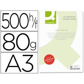 Papel fotocopiadora q-connect din a3 80 gramos -paquete de 500 hojas