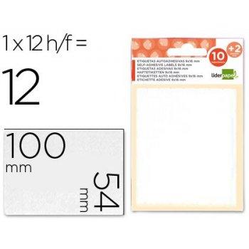 Etiquetas liderpapel sobre de 10 h. + 2 h. obsequio 54x100 mm -1 unidades por hoja