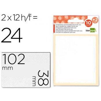 Etiquetas liderpapel sobre de 10 h. + 2 h. obsequio 38x102 mm -2 unidades por hoja