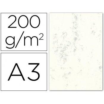Cartulina marmoleada din a3 200 gr. crema claro paquete de 100 h.