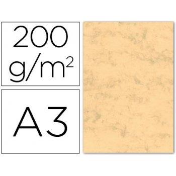 Cartulina marmoleada din a3 200 gr. ocre paquete de 100 h
