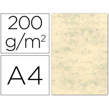 Cartulina marmoleada din a4 200 gr. crema claro paquete de 100 h.