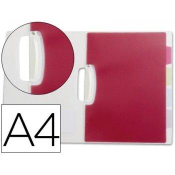 Carpeta beautone dossier pinza lateral polipropileno din a4 transparente con separadores
