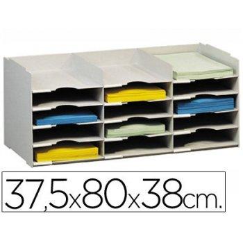 Archivador fast-paperflow bloques sobreponibles gris 15 casillas din a4