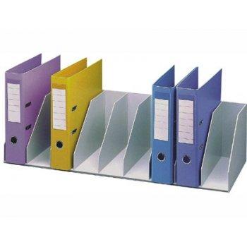 Organizador de armario fast- paperflow gris. baldas fijas 802 mm 9 compartimentos