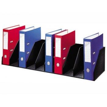 Organizador de armario fast- paperflow negro. baldas fijas 802 mm 10 compartimentos