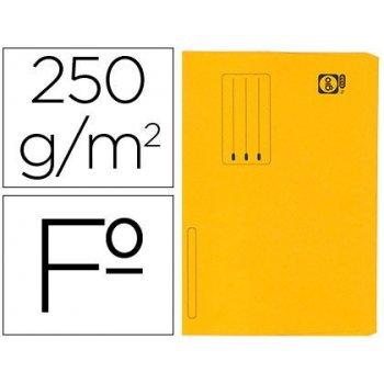 Subcarpeta cartulina gio folio pocket naranja con bolsa y solapa