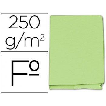 Subcarpeta cartulina gio folio pocket verde con bolsa y solapa 250gr.