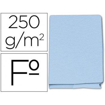 Subcarpeta cartulina gio folio pocket azul con bolsa y solapa